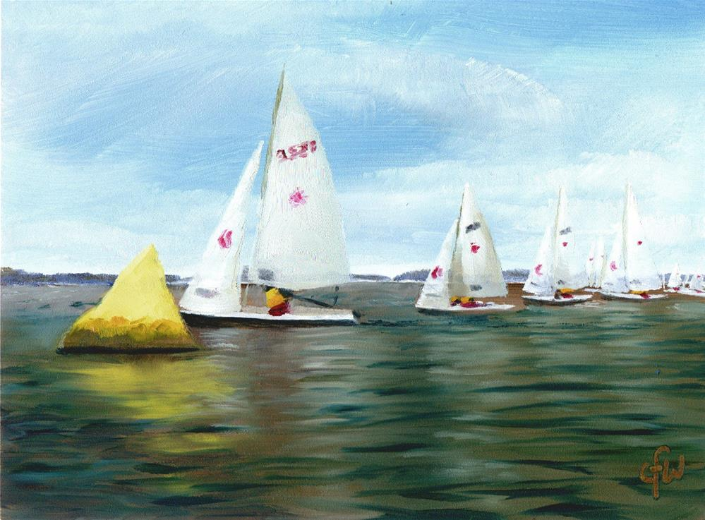 """Rounding the Mark"" original fine art by Gary Westlake"