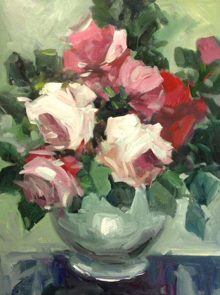 """September blooms"" original fine art by Parastoo Ganjei"