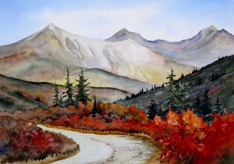 """The Winding Road"" original fine art by Horst Berlow"