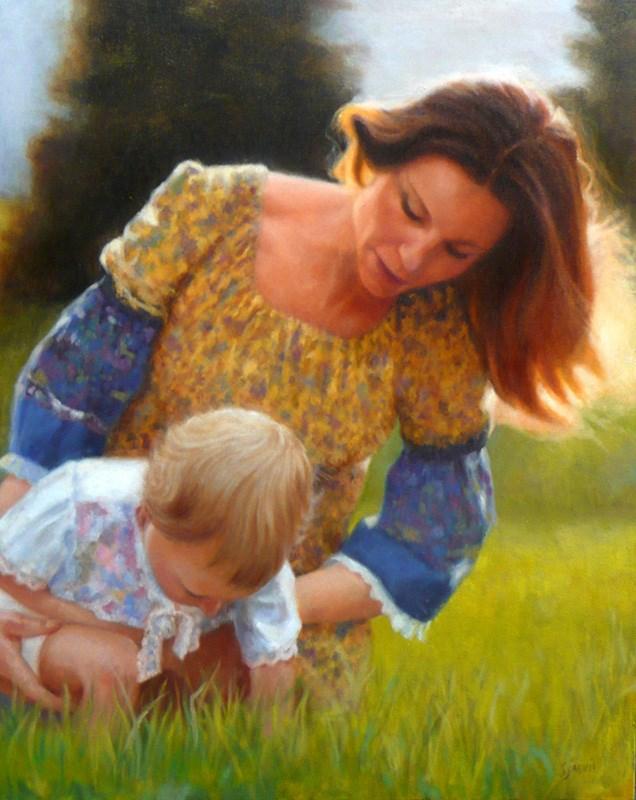 """A Mother's Love"" original fine art by Susan N Jarvis"