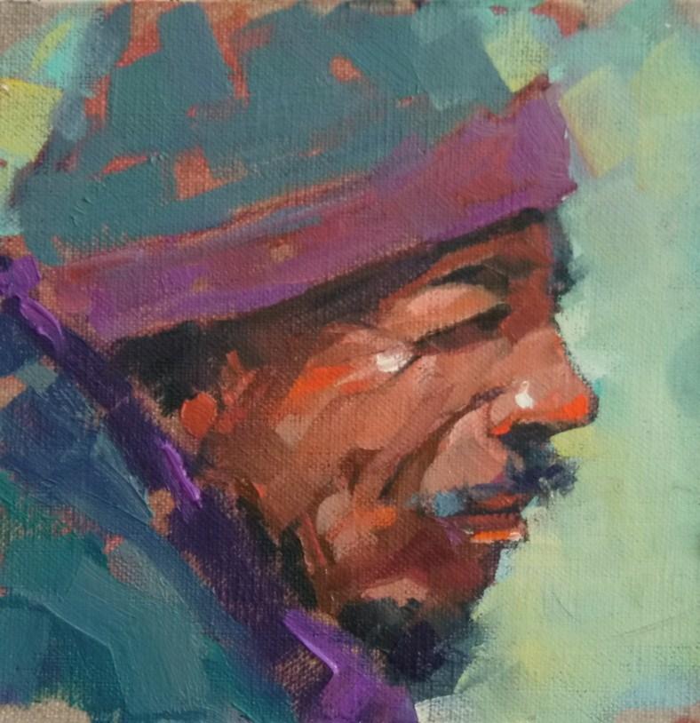 """""""Tibetan"""" original fine art by Brian Buckrell"""