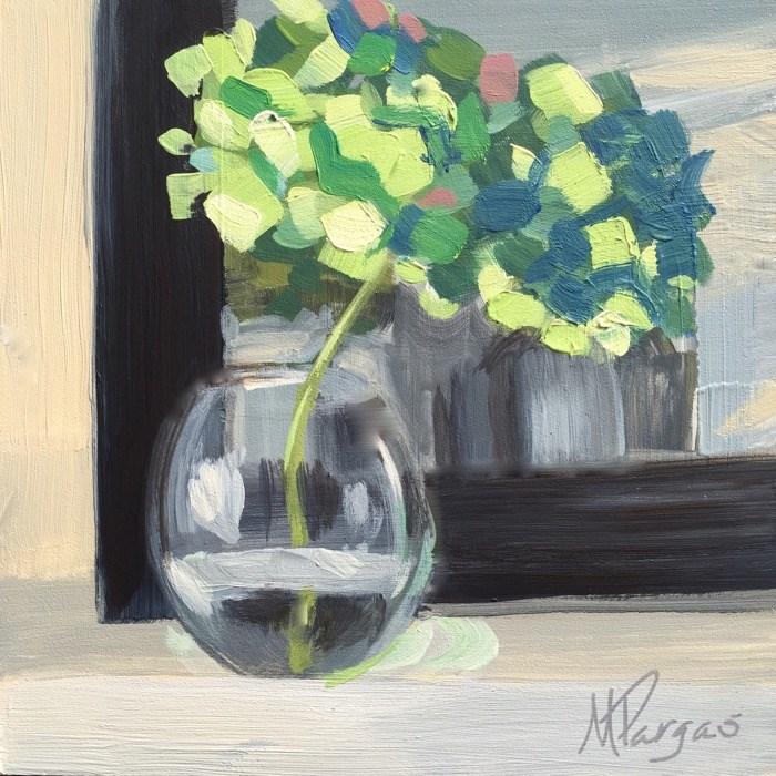 """Aging Hydrangea"" original fine art by Mary Pargas"