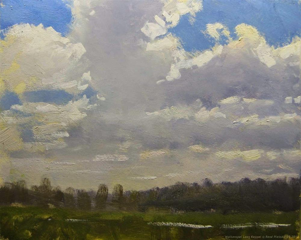 """Sky paint Laag Keppel The Netherlands"" original fine art by René PleinAir"