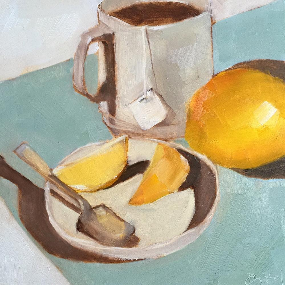 """111 Tea and Lemon"" original fine art by Jenny Doh"
