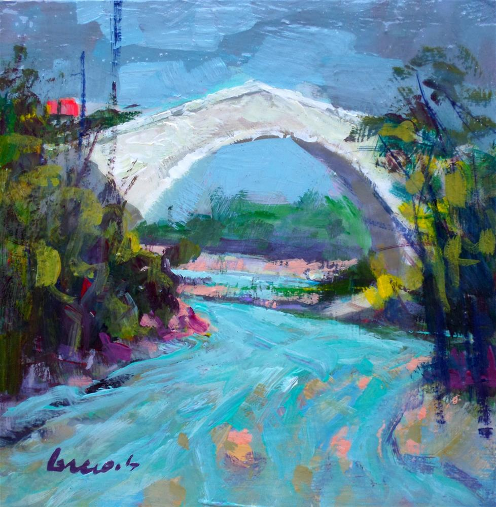 """View of the bridge"" original fine art by salvatore greco"
