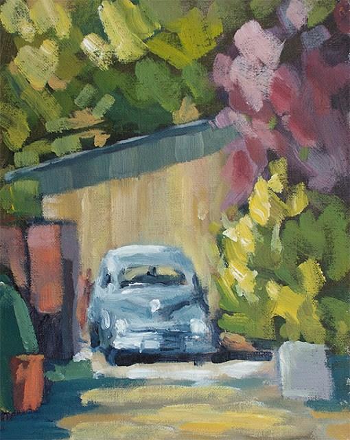 """""""Barn Diva Alley"""" original fine art by J. Farnsworth"""