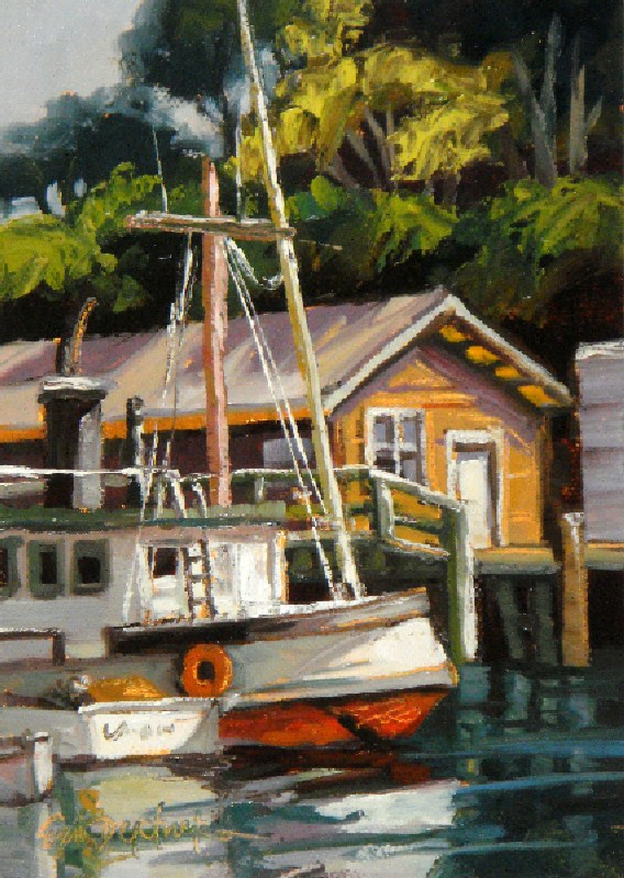 """Harbor Details"" original fine art by Erin Dertner"