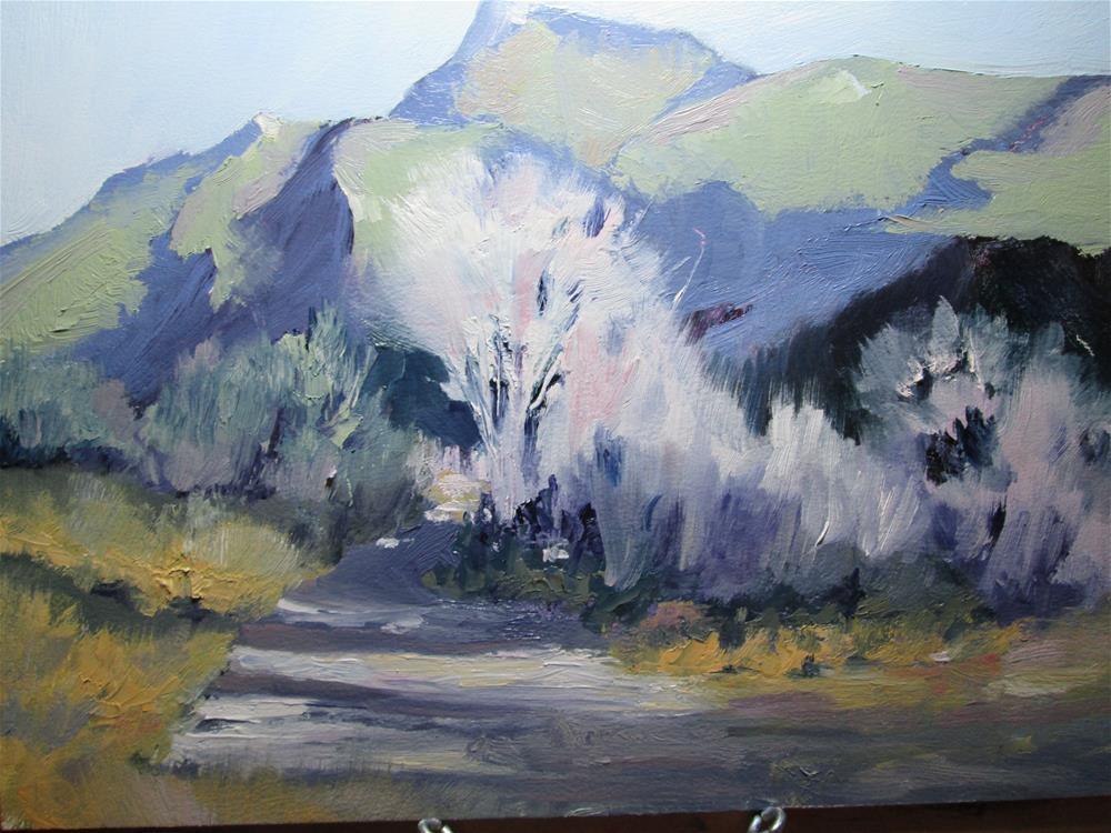 """Desert Lights"" original fine art by Norm Rossignol"