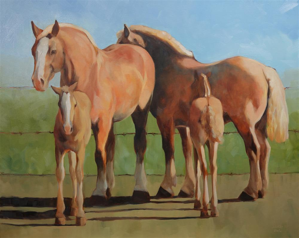 """Belgian Mares and Colts"" original fine art by Elaine Juska Joseph"