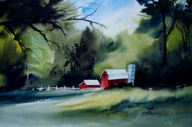 """After the Rain"" original fine art by Kathy Los-Rathburn"
