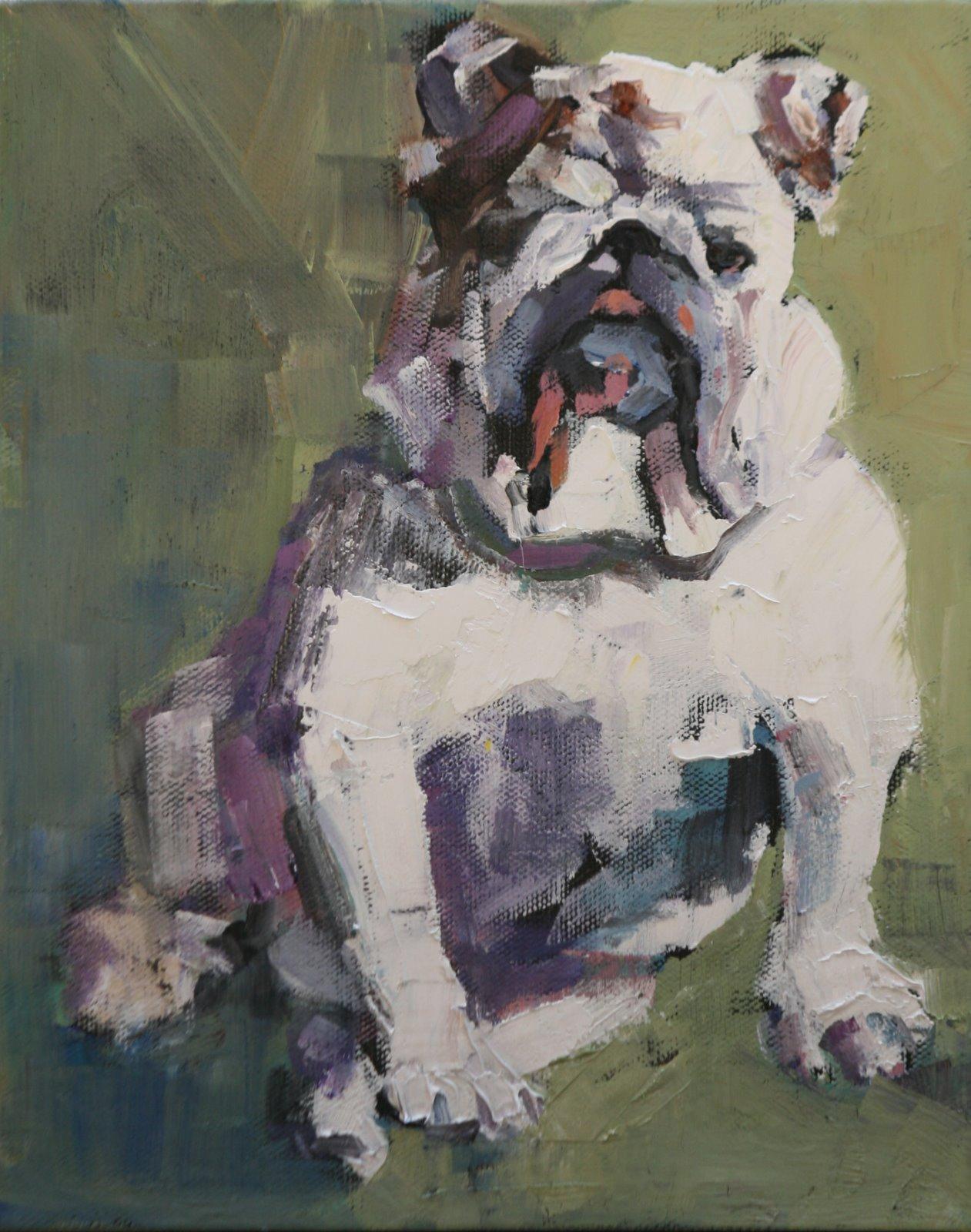 """rascal"" original fine art by Carol Carmichael"