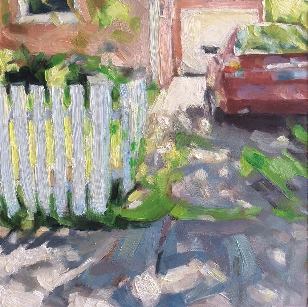 """White Picket Fence"" original fine art by Paula Howson-Green"