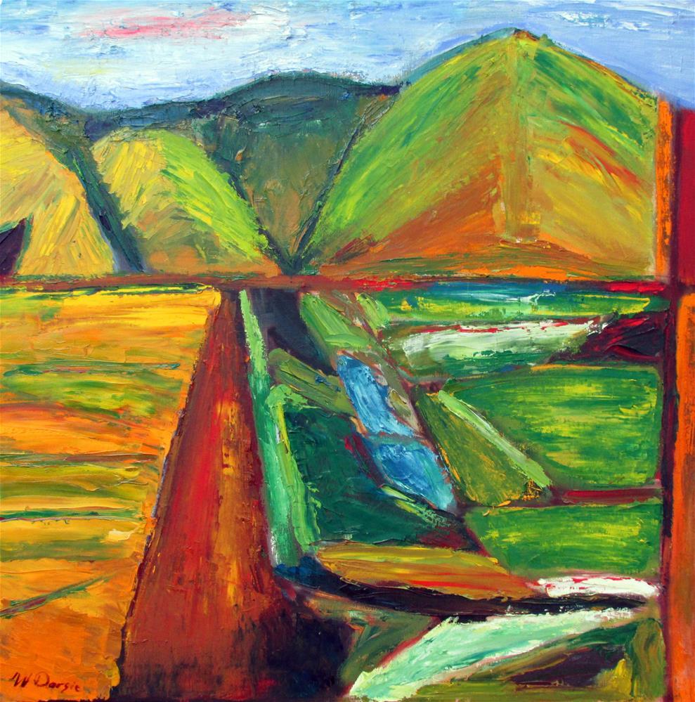 """Sonoma Mountain, Petaluma"" original fine art by Will Dargie"