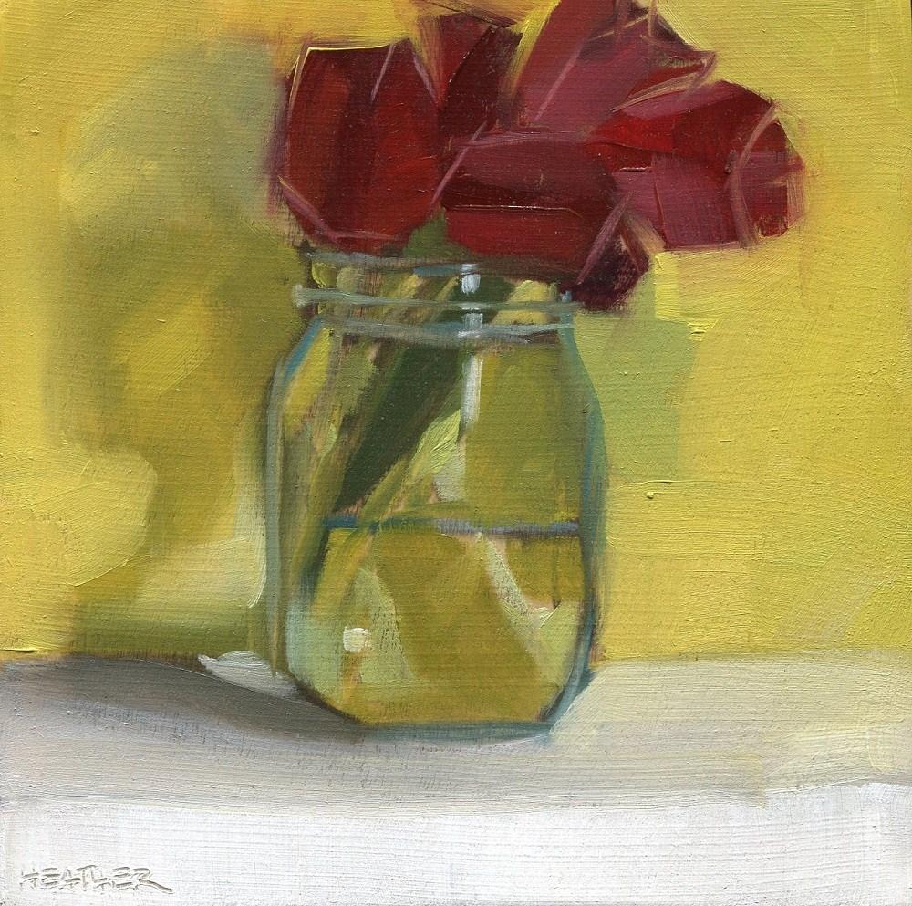 """""""Deep Red"""" original fine art by Heather Bennett"""