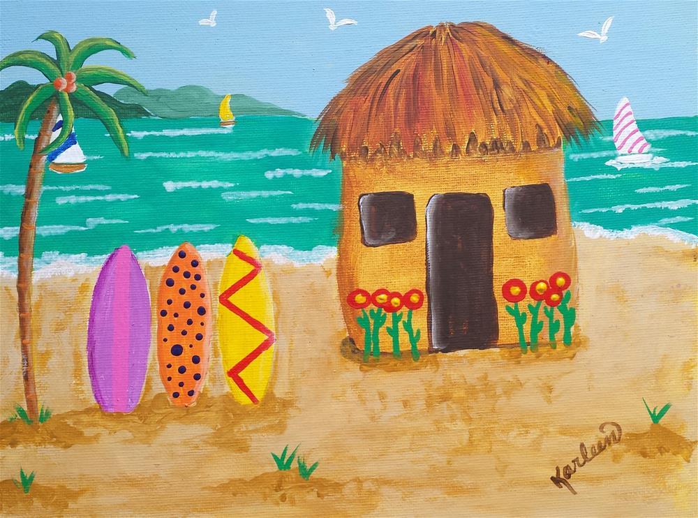 """Paradise Island"" original fine art by Karleen Kareem"