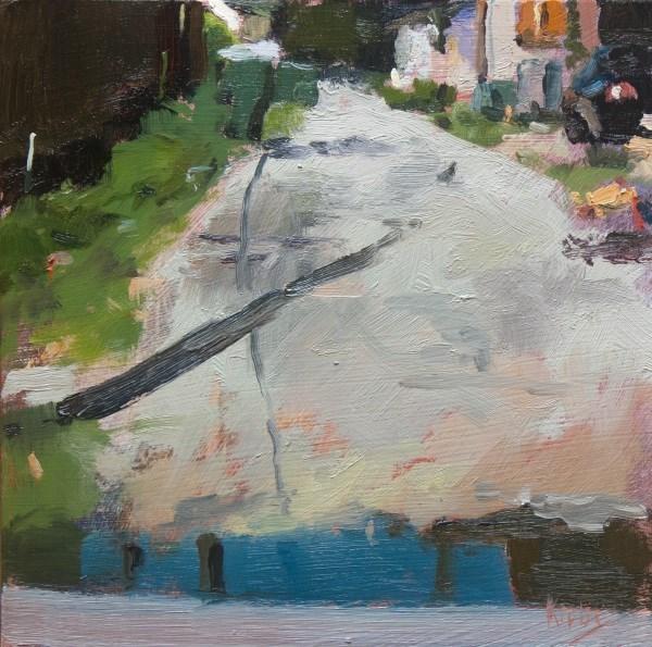 """The Back Alley"" original fine art by Randall Cogburn"