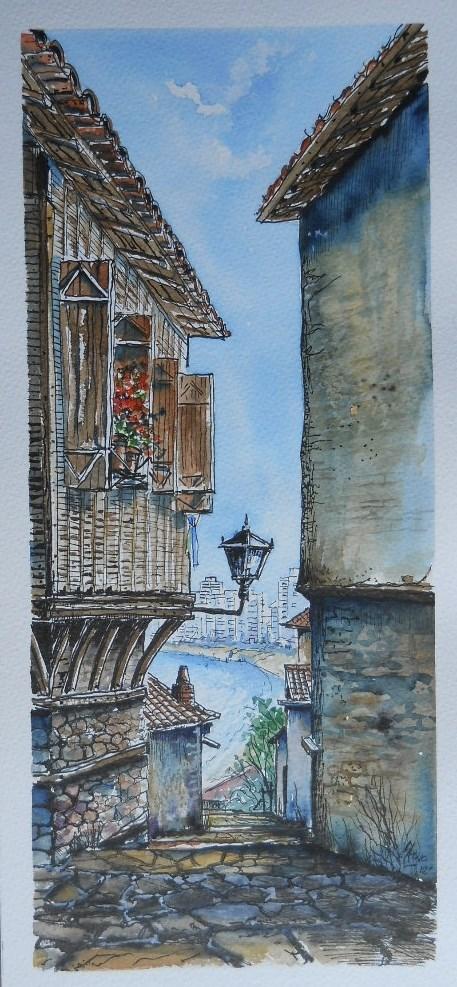 """""""Steps to the Beach"""" original fine art by Martin Stephenson"""