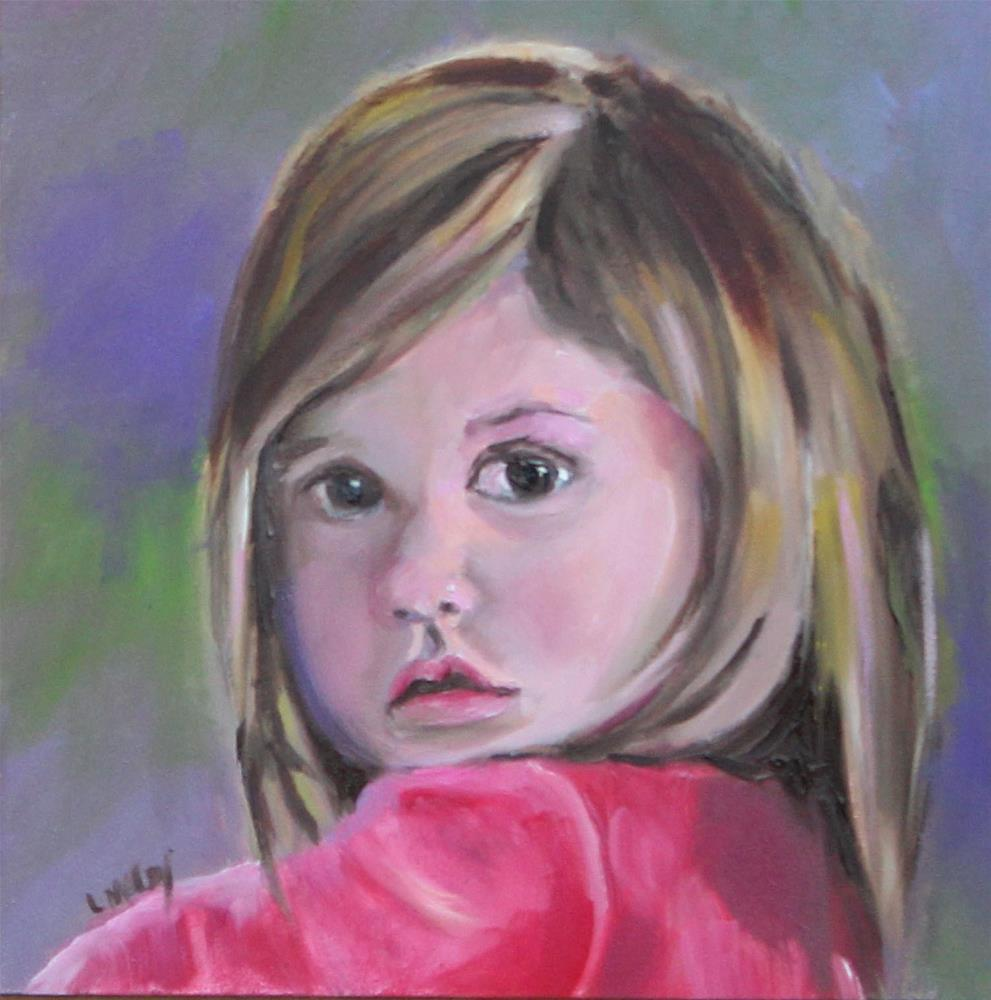 """Gracie, Oil Painting Portrait"" original fine art by Linda McCoy"
