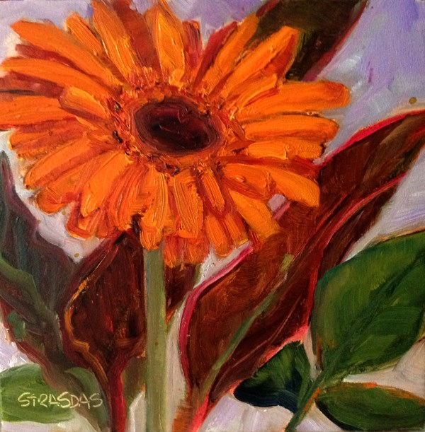 """Orange"" original fine art by Marcela Strasdas"