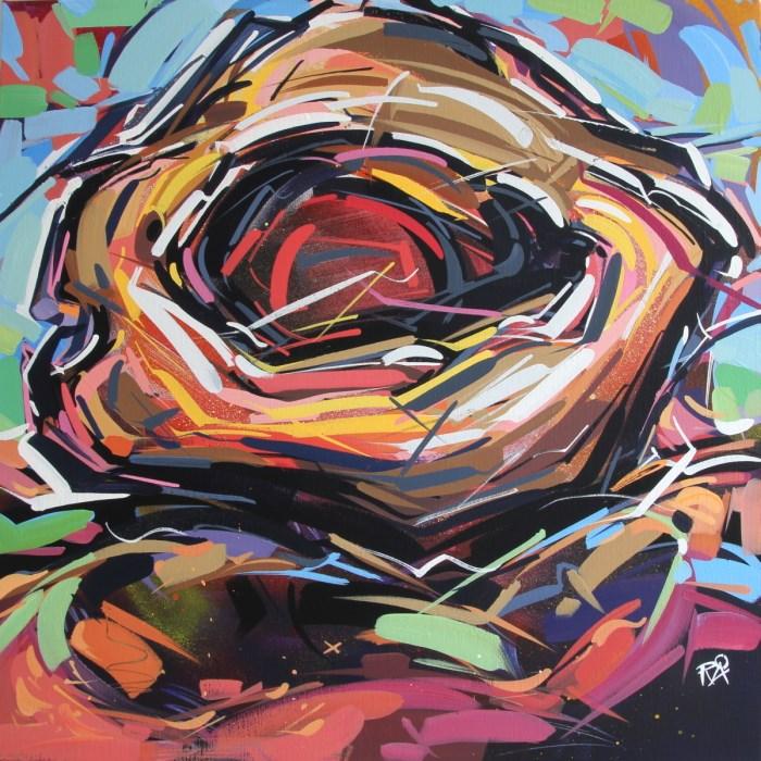 """Bird's Nest Abstraction 54"" original fine art by Roger Akesson"