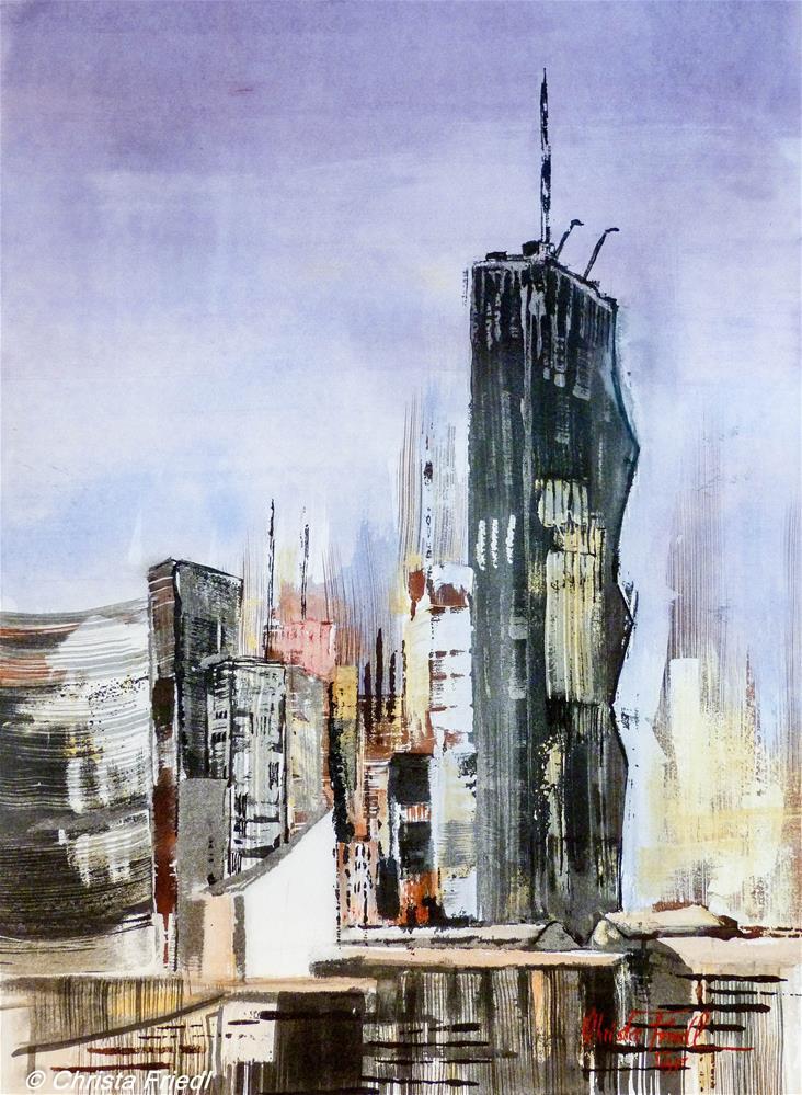 """DC Tower Vienna"" original fine art by Christa Friedl"