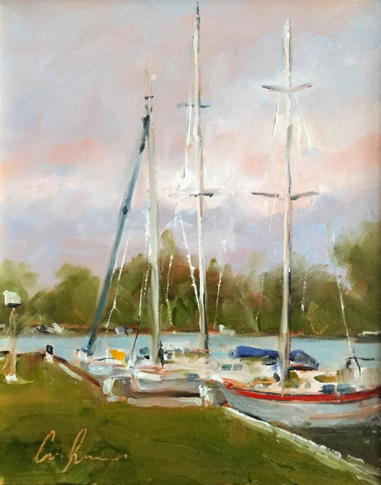 """The Yacht Club"" original fine art by Cornelis vanSpronsen"