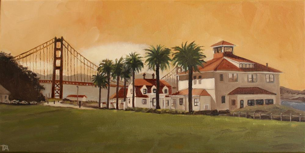 """Old Coast Guard Station #2"" original fine art by Tamsen Armstrong"