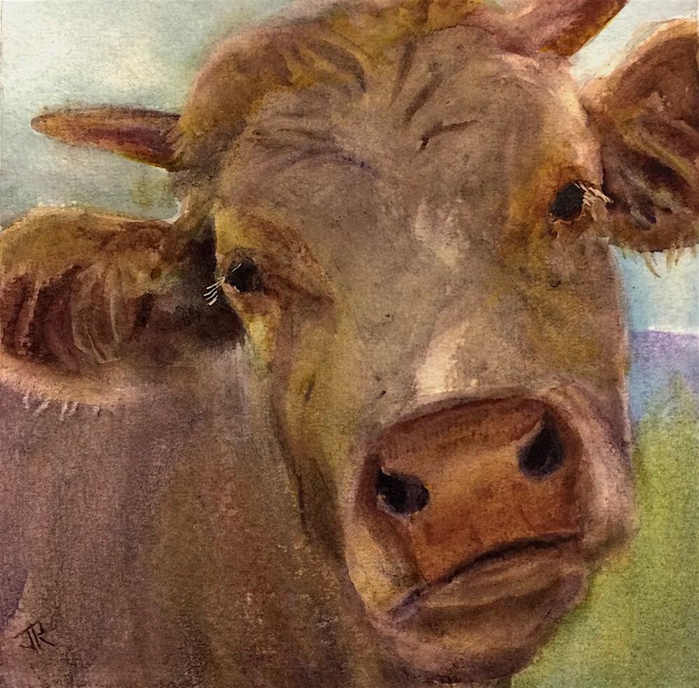"""Tell Camilla..."" original fine art by June Rollins"