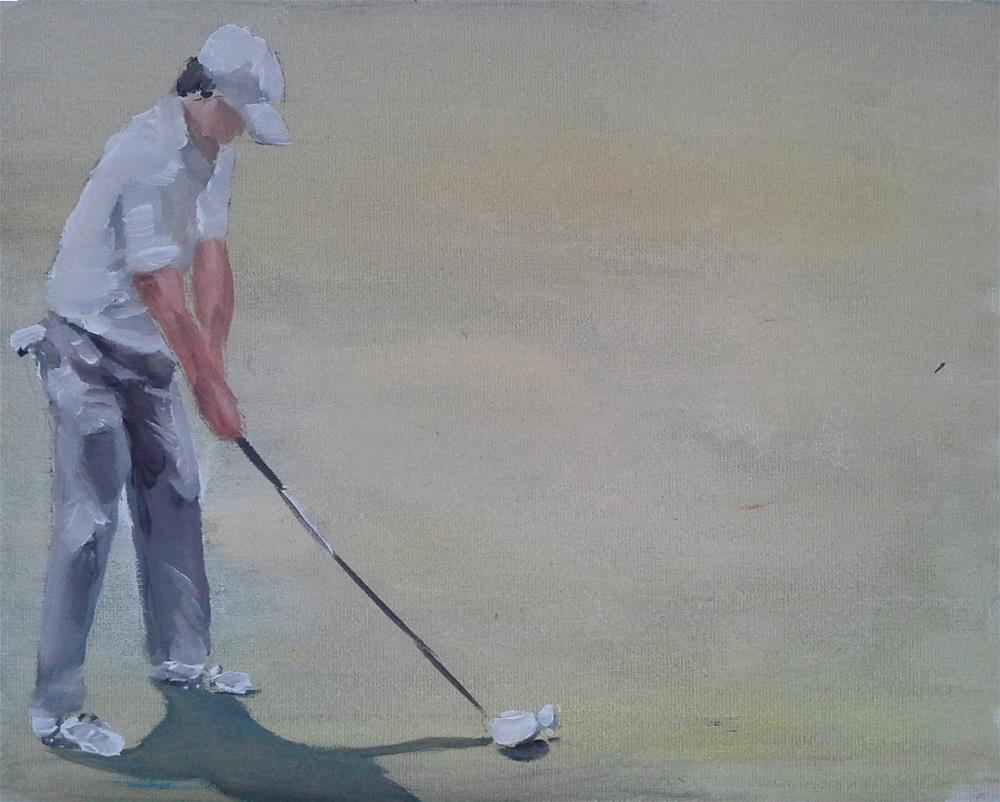 """Golfer"" original fine art by James Coates"