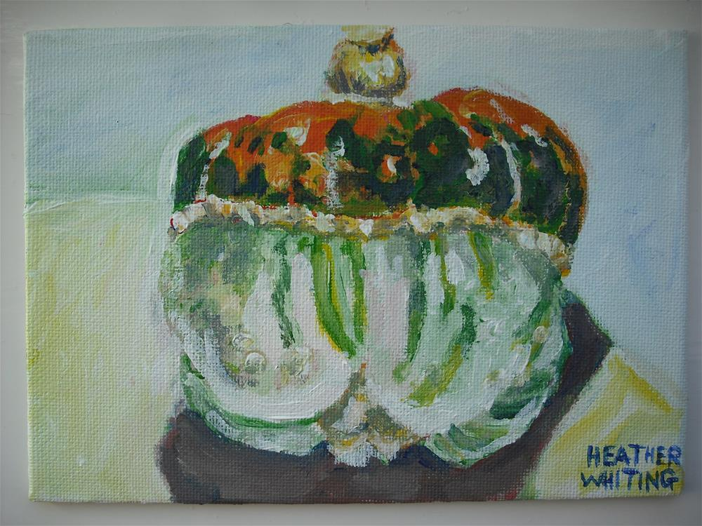 """Reclining Squash"" original fine art by Heather Whiting"