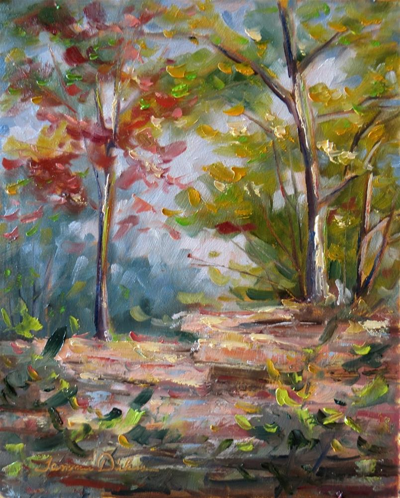 """First Autumn Color"" original fine art by Tammie Dickerson"
