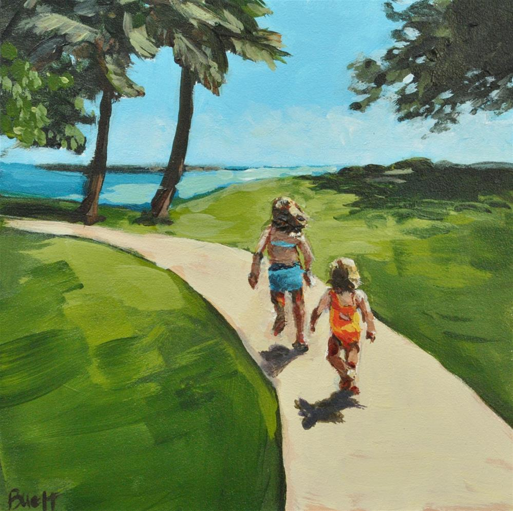 """Last One to the Beach is a Rotten Egg"" original fine art by Shari Buelt"