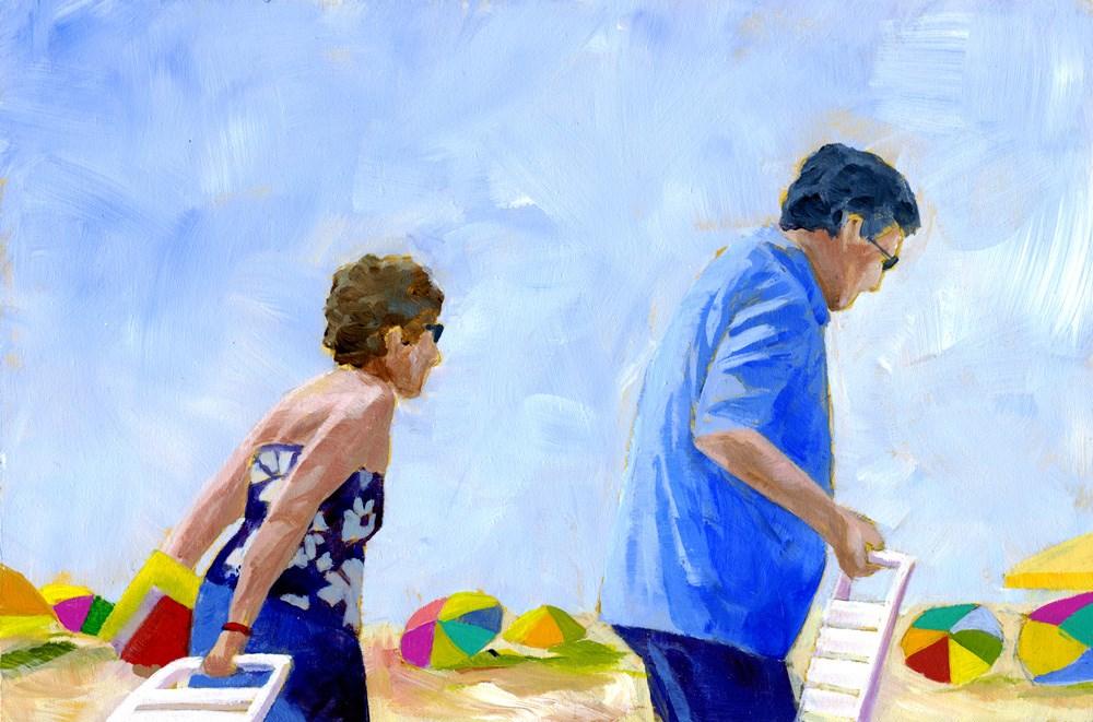 """Beach Pals"" original fine art by Eileen Hennemann"