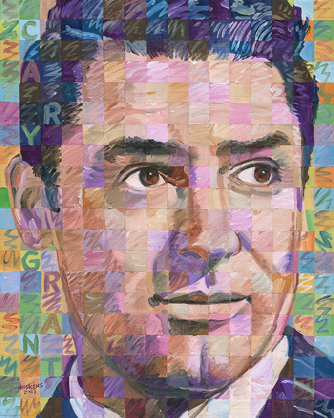 """Cary Grant"" original fine art by Randal Huiskens"