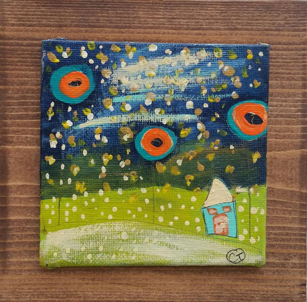 """Fireflies House # 119"" original fine art by Christy Tremblay"