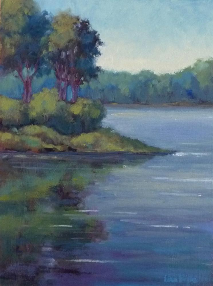 """""""Evening on the Cove"""" original fine art by Lisa Kyle"""