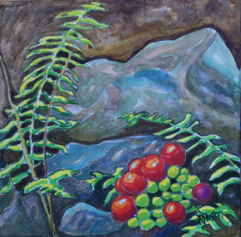 """Botanical Garden 08"" original fine art by Richard Huston"