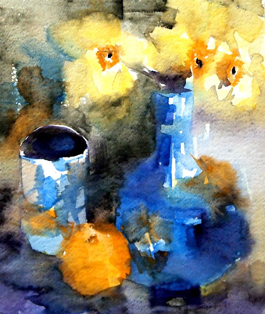 """""""No. 2--Daffodils Abstracted"""" original fine art by Amy Bryce"""