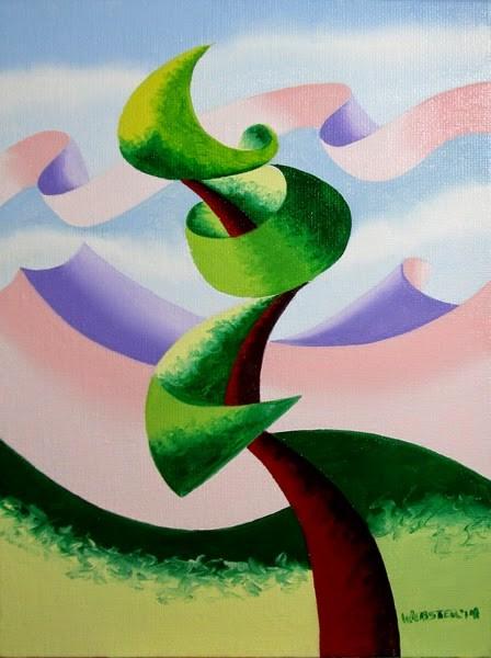 """Mark Adam Webster - Abstract Geometric Landscape Oil Painting 4.4.14"" original fine art by Mark Webster"