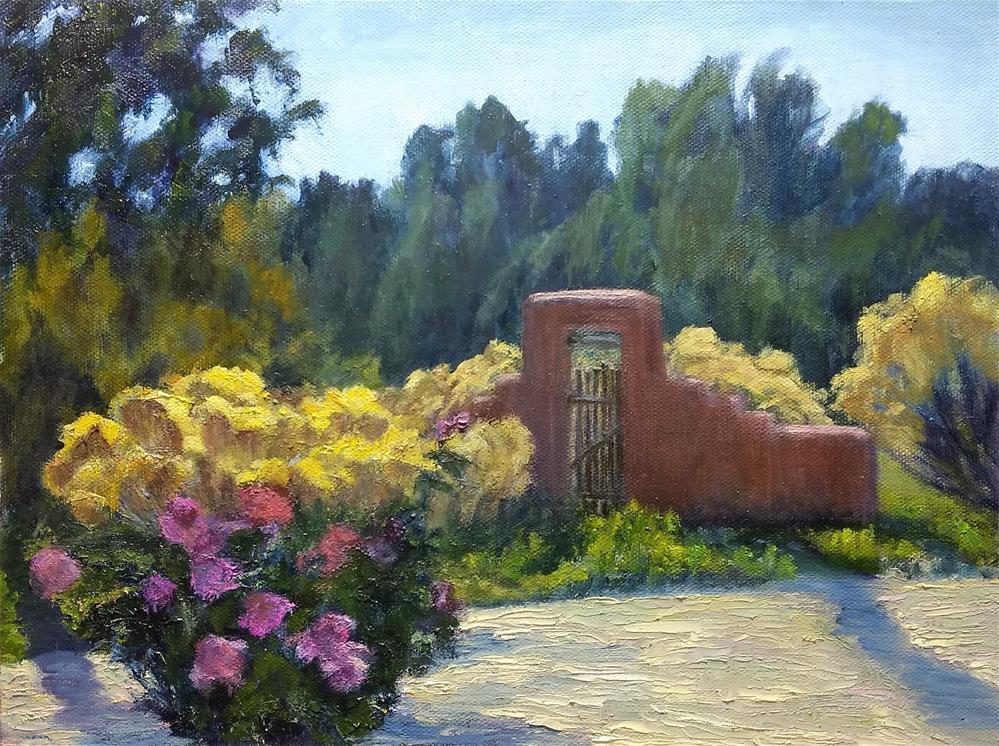 """Santa Fe Garden"" original fine art by Candi Hogan"