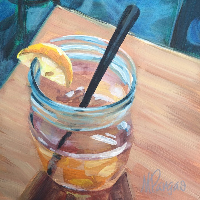 """Iced Tea with Lemon"" original fine art by Mary Pargas"