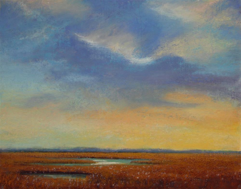 """Sunset on the Marsh"" original fine art by Sharon Lewis"
