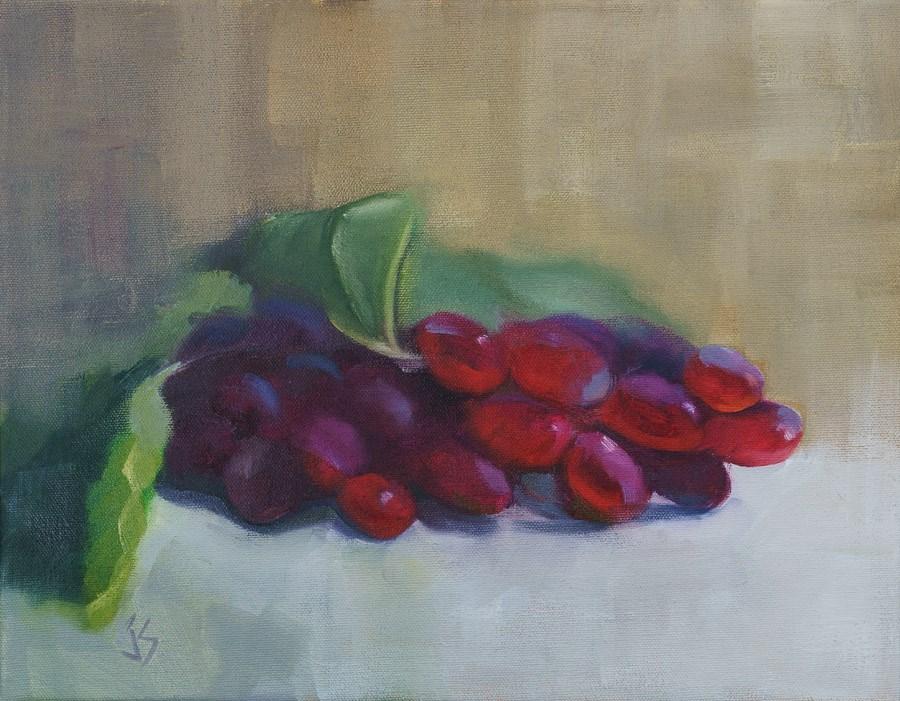 """Luscious Grapes 11x14"" original fine art by Johnna Schelling"