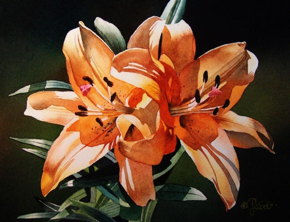"""Double Scoop ~ Orange Sherbert"" original fine art by Jacqueline Gnott, whs"