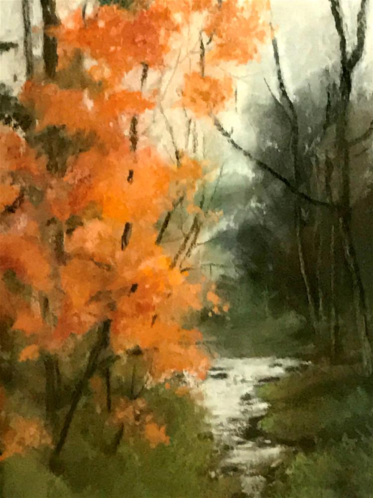 """bright color by the stream"" original fine art by Betty Argiros"
