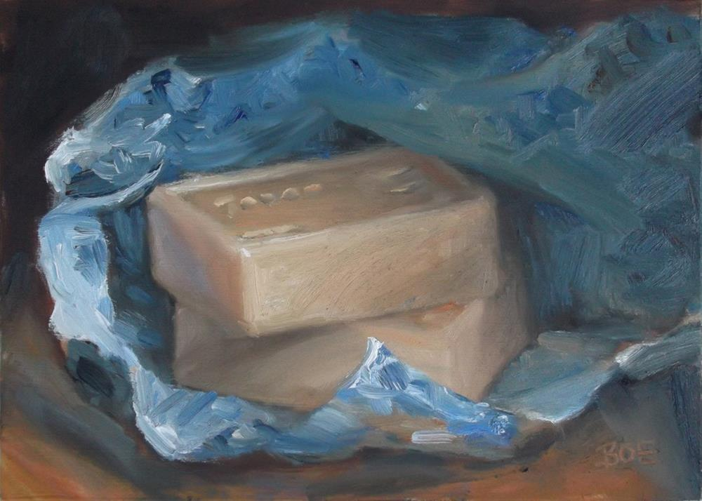 """Soap from the Bedoin Market"" original fine art by Karen Boe"