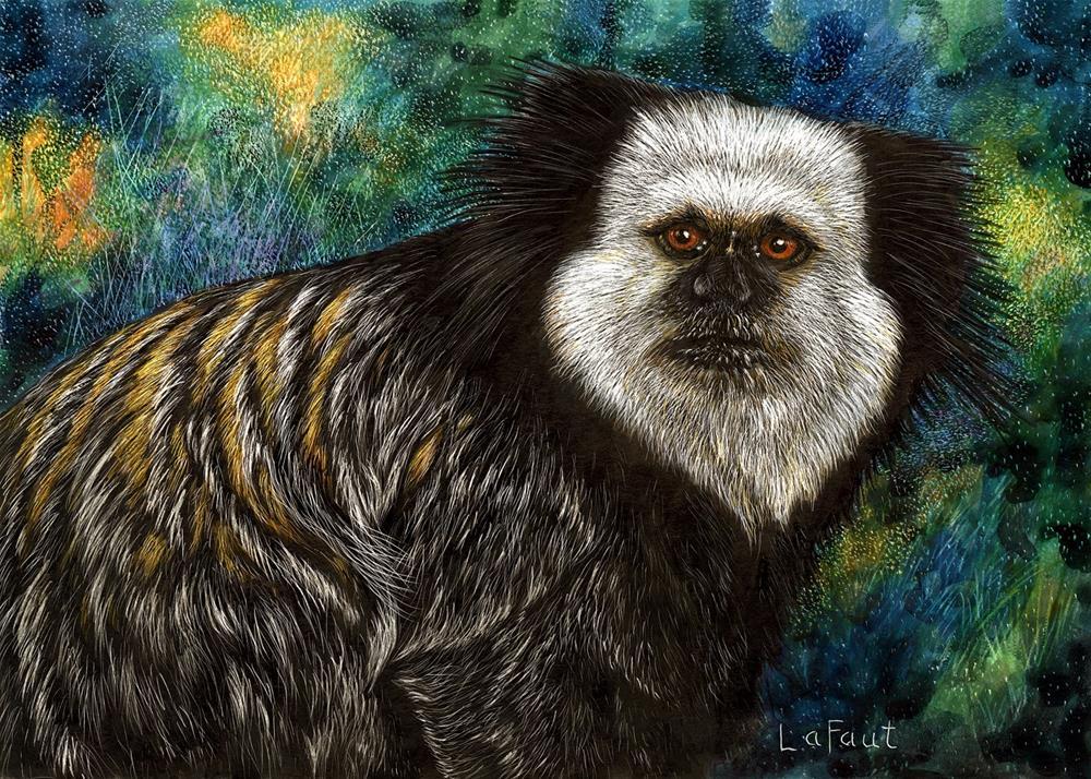 """Geoffrey's Marmoset: Amazon Series #5"" original fine art by Sandra LaFaut"