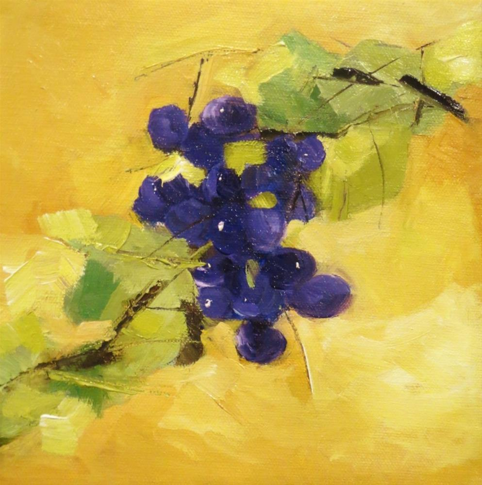 """Grapes on vine"" original fine art by Astrid Buchhammer"