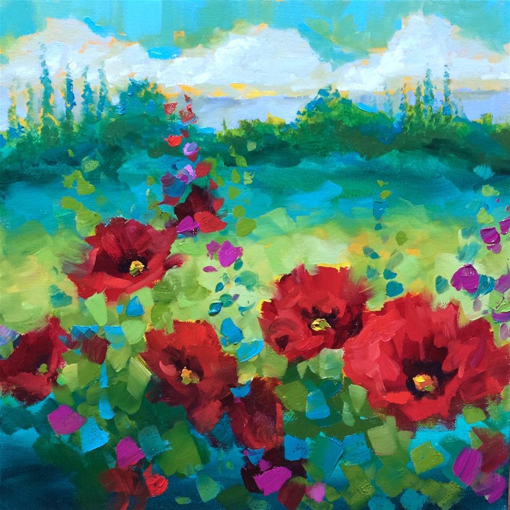 """Summer Breeze Poppies - Italy 2016 - Nancy Medina Art"" original fine art by Nancy Medina"