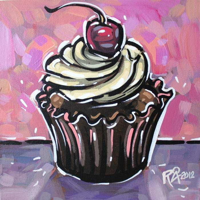 """Cupcake 3"" original fine art by Roger Akesson"